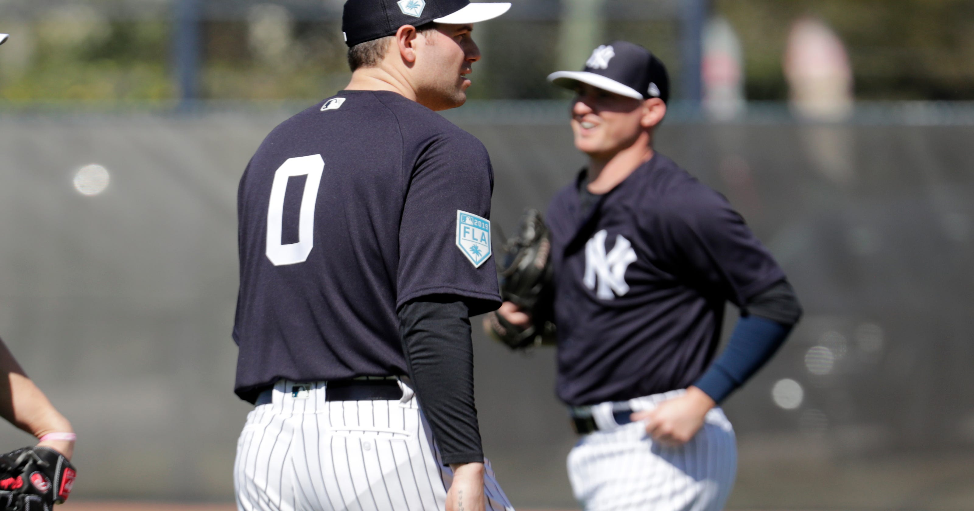 buy online 9cd2e a9071 Adam Ottavino, Greg Bird at New York Yankees spring training