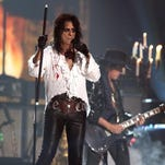 Alice Cooper of Hollywood Vampires performs at the 58th annual Grammy Awards on Feb. 15 in Los Angeles. Hollywood Vampires will play Tuesday at Summerfest's BMO Harris Pavilion.