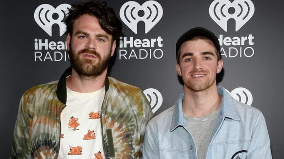 Alex Pall, left, and Andrew Taggart of The Chainsmokers.