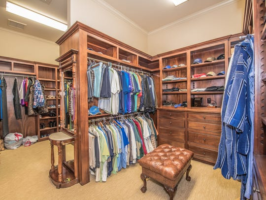 The huge closet has space for everything and includes