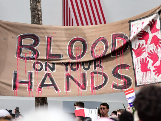 Around 3,000 protesters gathered outside of the Florida Capitol Building on Wednesday in support of gun reform. The protest comes one week after the shooting in Parkland, Florida that left 17 people dead.