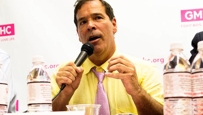 <137>FILE - In this July 23, 2013 file photo, <137>Randy Credico<137>, who was a candidate in the New York mayoral race, speaks during a forum on HIV/AIDS at the GMHC headquarters in New York. Credico, a comedian and drug law critic who has also run for the U.S. Senate,<137> is seeking the Democratic nomination for New York governor.
