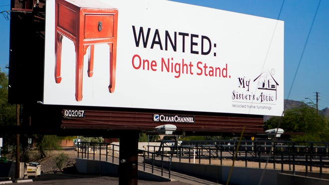 My Sister's Closet billboard on the Corner of Glendale Ave. and 16th St. in Phoenix, Ariz.