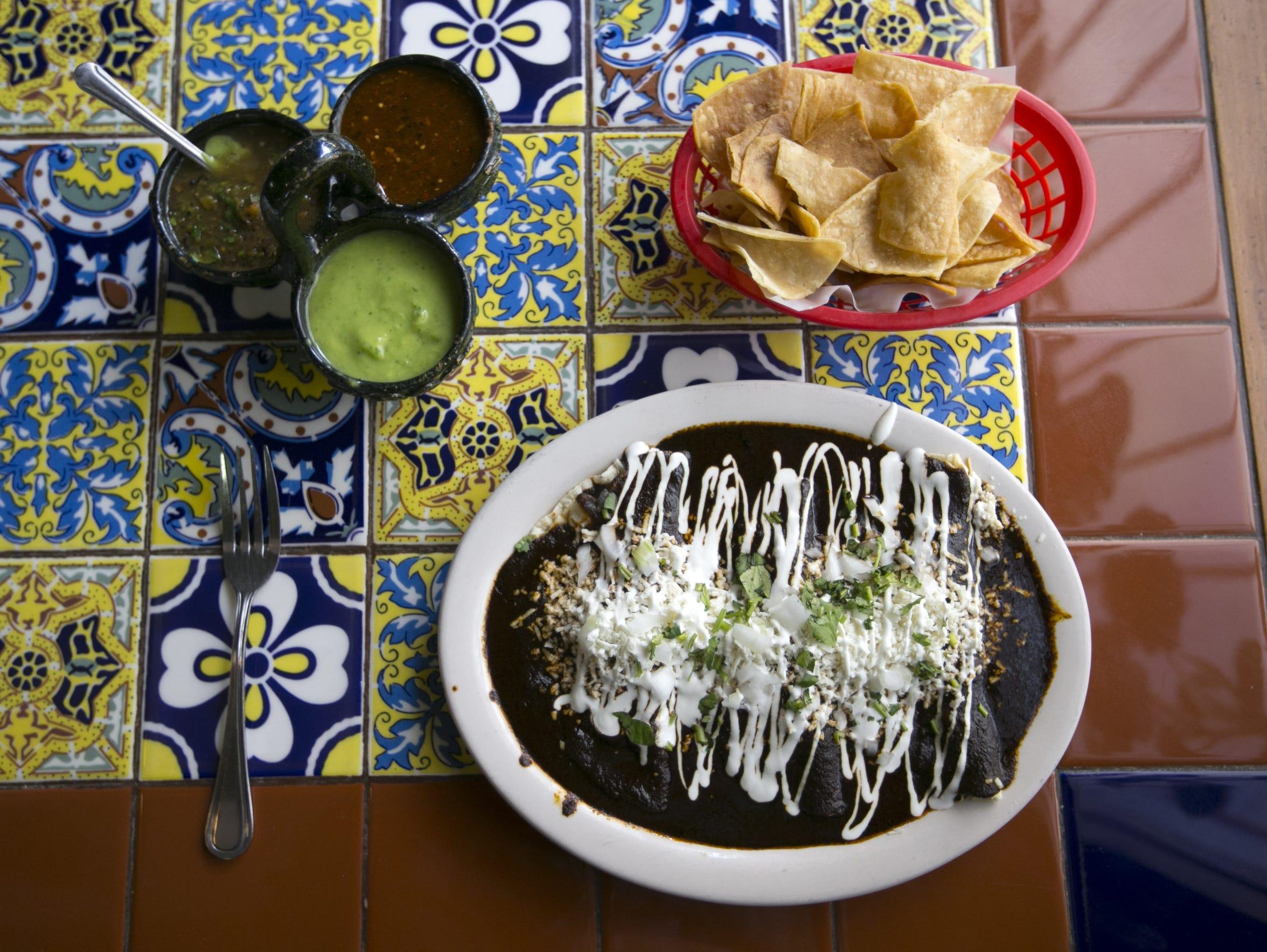 Enmoladas at La 15 y Salsas Mexican Grill in Phoenix