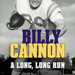 """Cover for """"Billy Cannon: A Long, Long Run"""" by Charles N. DeGravelles."""