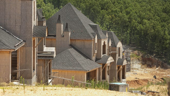 A 2009 photo of houses built on the Indian Ridge Resort property. The houses were never occupied but are still standing.