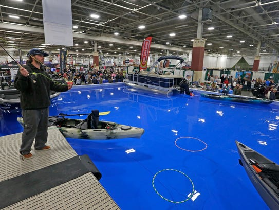 Lake Milwaukee was added to the Sports Show as an attraction