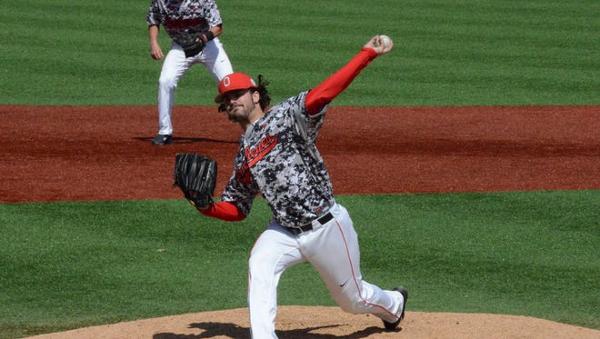 Ohio State senior pitcher Ryan Riga, a Fairfield High School graduate, set a school record by throwing 30.2 consecutive scoreless innings this season.