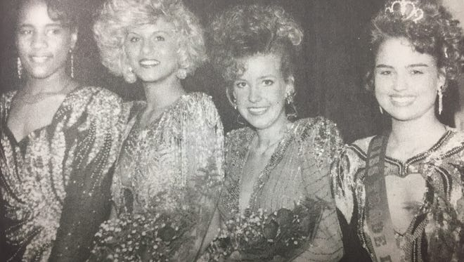 Laura Alvey, far right, was crowned Miss Trade Days in May 1993. First runner-up was Chasity Owens, and Carolyn Gatten was second-runner up. Octavia Jones won Miss Congeniality.