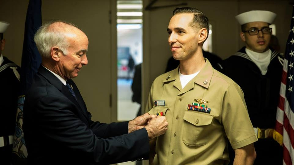 The Navy and Marine Corps Medal was presented to Hospital