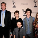 """NORTH HOLLYWOOD, CA - MARCH 26: (L-R) Neil Flynn, Patricia Heaton, Atticus Shaffer, Charlie McDermott and Eden Sher arrive at the Academy of Television Arts & Sciences Presents an Evening with """"The Middle"""" on March 23, 2012 in North Hollywood, California. (Photo by Phil McCarten/Invision for the Academy of Television Arts & Sciences/AP Images)"""