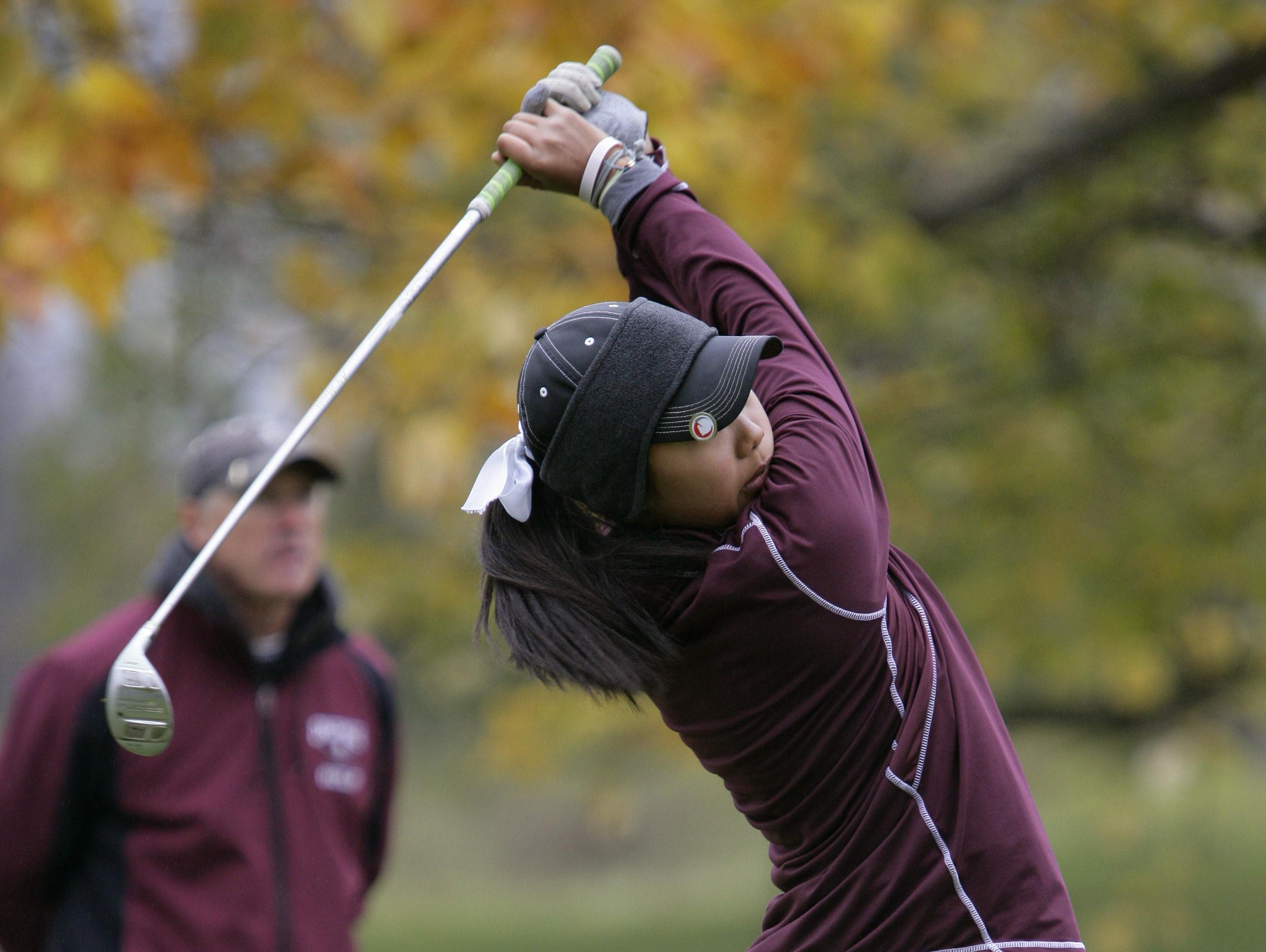 Jessica Kim and Okemos are in pursuit of a fifth straight league title.
