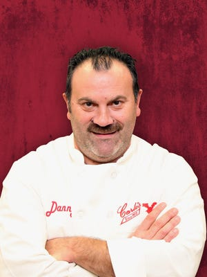 """Danny Dragone of Carlo's Bakeryin Hoboken and TLC's """"Cake Boss""""has pledged toshave off his mustache for the first time in more than30 years to benefit Make-A-Wish New Jersey. Dragone is aiming to raise $25,000 online."""