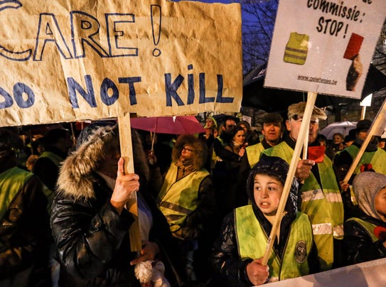 BelGIUM PROTEST CHILDREN EUTHANASIA