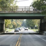 The 490 bridge over Marsh Road in Pittsford N.Y. on Friday September 23 2011. This is one of the more deteriorated bridges in New York State.
