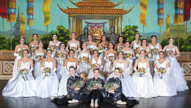 The Queen and Court of the 2015 Blue and Gray Colonels Ball were joined by dancers from the Alabama Dance Theater, who performed Chinese from The Nutcracker during the 66th annual presentation. (Courtesy of David Robertson, Jr.)