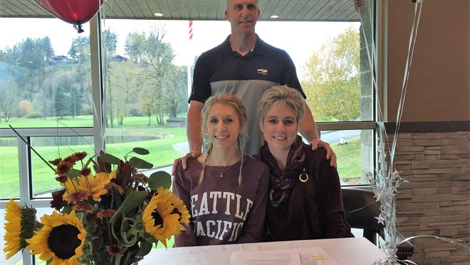 Sprague senior Kaylee Mitchell signed a letter of intent to compete in track and field at Seattle Pacific on Friday, Nov. 10, 2017.