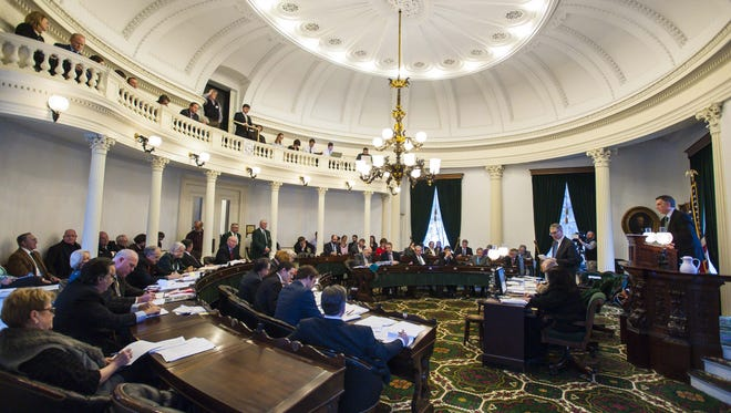 The Senate voted by roll call to approve the marijuana legalization bill at the Statehouse in Montpelier on Wednesday, February 24, 2016. The bill eventually failed on the House floor this spring.