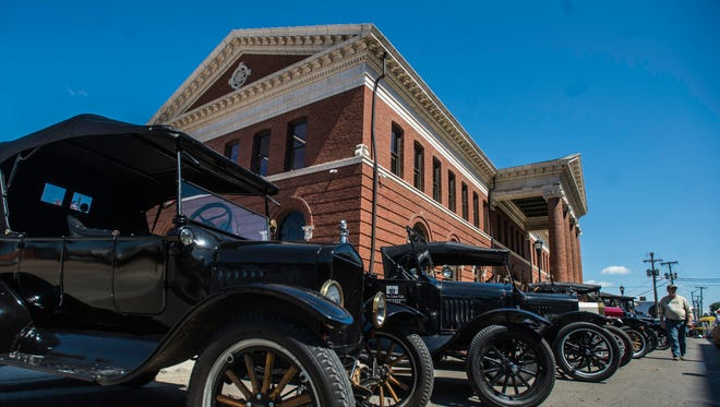Hundreds came out to celebrate the grand re-opening of Richmond's historic train depot building during Depot Fest on Saturday, Sept. 9, 2017.