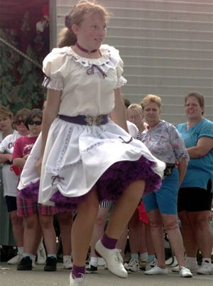Old Fashion Day will be 11 a.m.-10 p.m. Saturday, Sept. 6, in Walton. Pictured is Catrina Mullins, a member of the Jubilee Cloggers.