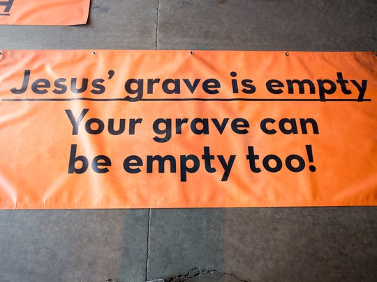 """In keeping with the York Halloween Parade's theme, a 'Graveyard Party!"""", the float will feature the tomb of Jesus."""