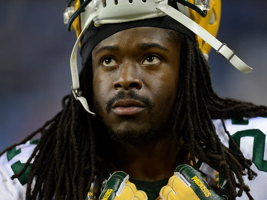 Green Bay Packers running back Eddie Lacy slept on