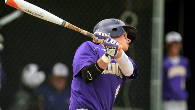 Fowlerville's Adam Jolliff drove in a pair of runs with a single in the fifth inning on Wednesday, but it was Josh Bacha's grand slam in the sixth that won it for the Gladiators, who beat East Lansing 14-8.