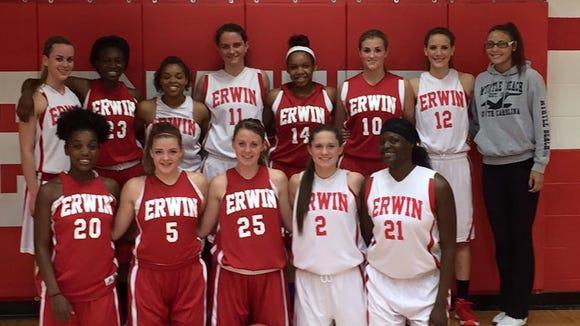 The Erwin girls basketball team.