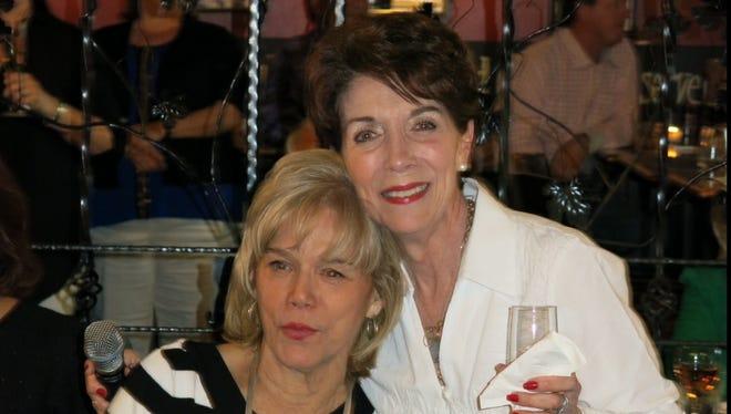 Sue Weaver and the birthday girl Sharon Gahagan at her birthday.