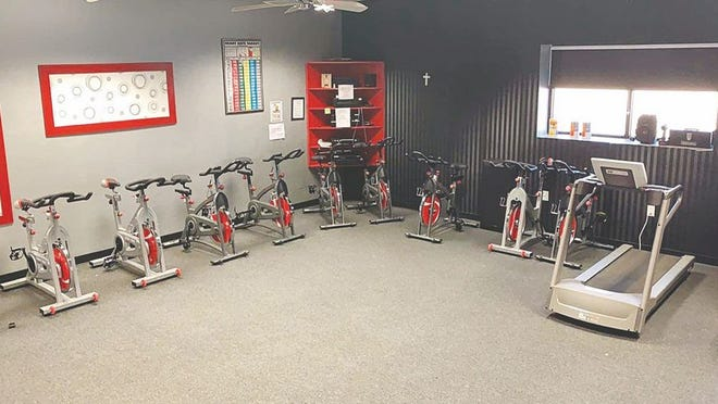 Spin class equipment stands ready for fitness participants at the St. John Rec Center's Time For You facility, located at 205 East 2nd Avenue.