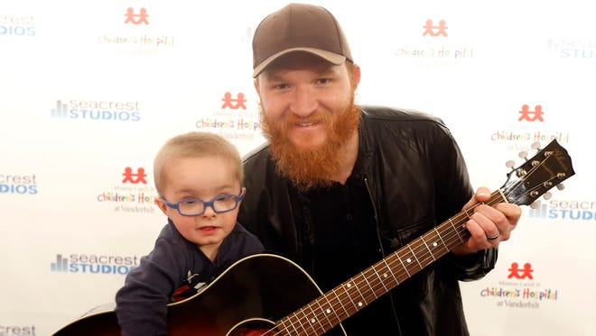 Eric Paslay performed and talked with kids in Seacrest Studios at Monroe Carell Jr. Children's Hospital at Vanderbilt.