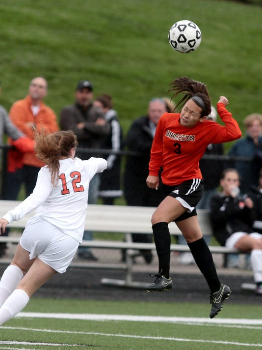 Brightons Kasey Codd heads the ball away from the goal.jpg