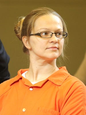 Angelika Graswald is seen in Orange County Court in Goshen on Sept. 1.