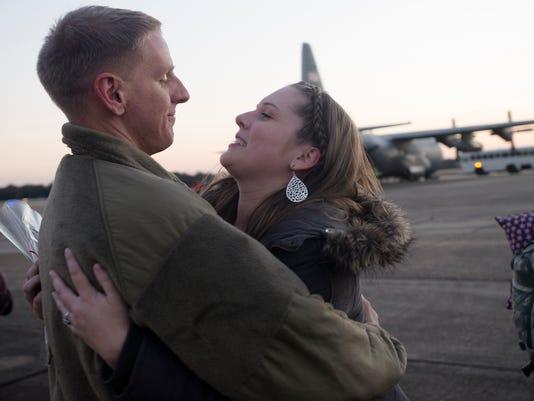 Air Force Reserve Unit Returns Home 105