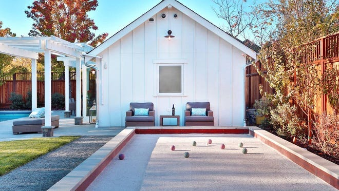 Bocce ball courts, fire pits, putting greens with artificial turf, and dining areas are all hot ticket items.