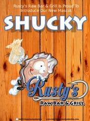 Rusty's Raw Bar & Grill announces new mascot, Shucky the Oyster