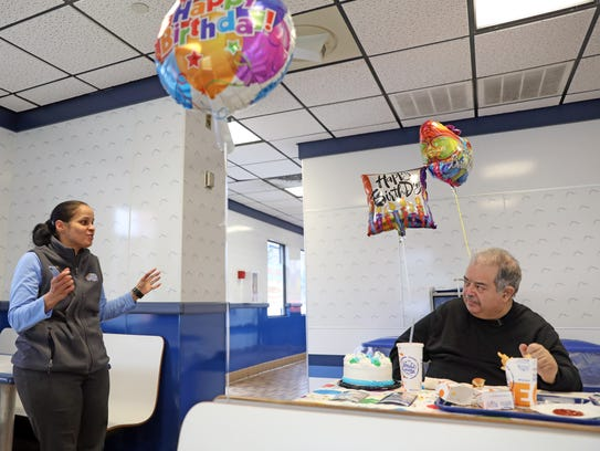 White Castle Manager, Carmen Vazquez talks with Peter
