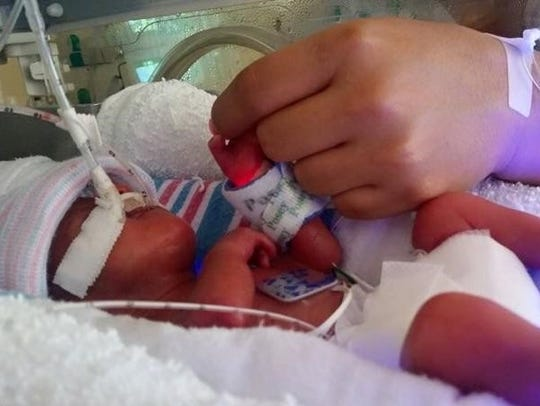 Judah Elias Median was born premature, weighing 1 pound, 5 ouncesand lived in the NICU at the El Paso's Children Hospital for four months.