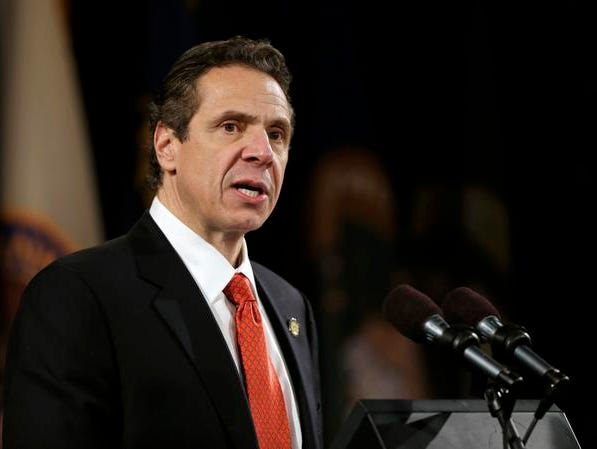 New York Gov. Andrew Cuomo delivers his annual State of the State address at the Empire State Plaza Convention Center on Jan. 8.