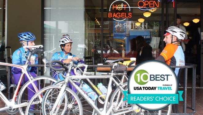 Davis, Calif., was voted the USA's top cycling town in 10Best's Readers' Choice contest.
