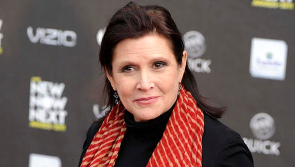 FILE - This April 7, 2011 file photo shows Carrie Fisher