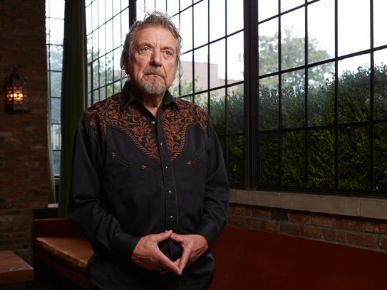Singer Robert Plant at the Bowery Hotel in New York