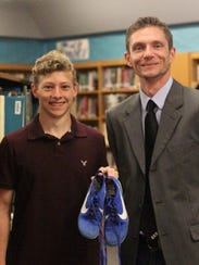Adam Wolfe, left, with Mentor: Mr. Risser.