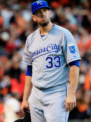 James Shields spent two years with the Royals. Now he's off to the Padres.