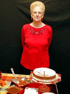 Mary Hoskins with Acadian Syrup Cake