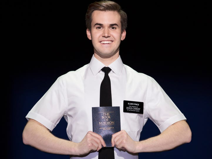 """Kevin Clay portrays Elder Price in """"The Book of Mormon"""""""