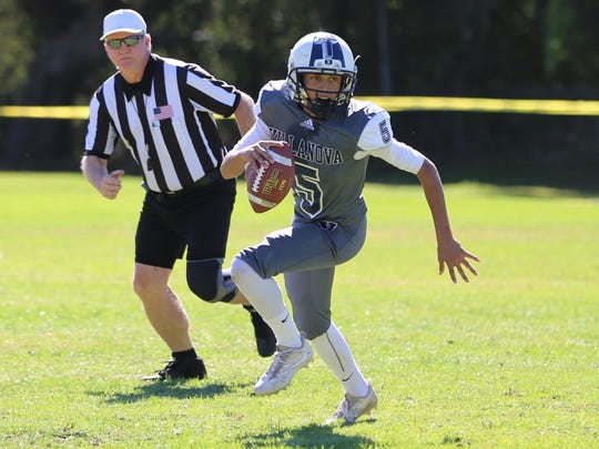 Quarterback Bobby Caron has thrown for 989 yards, 13 touchdowns and just two interceptions for unbeaten Villanova Prep, which opens the Division 1 8-man playoffs Saturday afternoon at home.