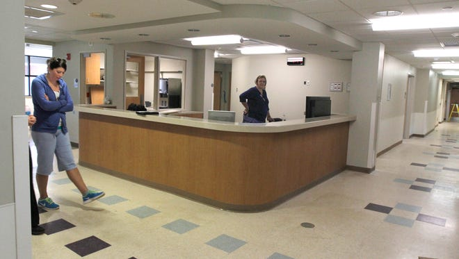 The original main station from the Birthing Unit at the former Lakeside Memorial Hospital at what is now UR Medicine Strong West. The station will be used as the new main station in the Surgical Center.