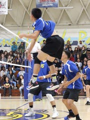 Joshua Carin has done it all for the Channel Islands High boys volleyball team, leading in kills with 256 while piling up 47 blocks, 159 digs and 50 assists.