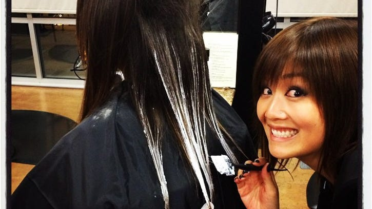 Here I am, painting on balayage highlights with an EXTRA-creepy grin! Highlights and lowlights are extremely versatile. There are only a million and one ways to highlight/lowlight hair. Don't forget that placement and application is just as important as the color formulation.